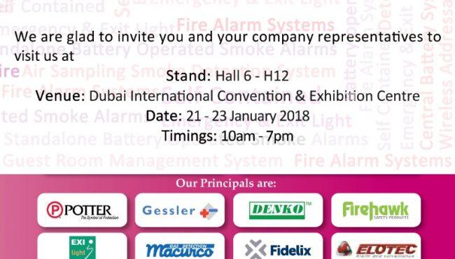Intersec 2018 Invitation
