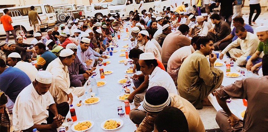 Edge technical solutions iftar at Al-Quoz labor camp