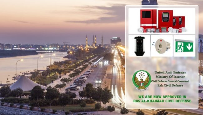 Our Products are now approved in RAK Civil Defense